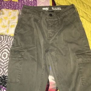 Mossimo denim high rise jeggings (army green)